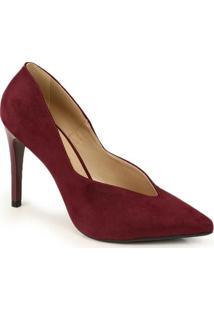Sapato Scarpin Bruna Rocha Vinho