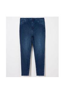 Calça Jeans Skinny Push Up Curve E Plus Size Azul