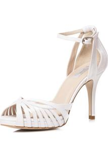 Sandália Noiva Confortável Salto Médio - Mw8183 Branco