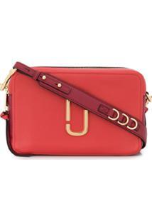 Marc Jacobs Softshot Logo Plaque Shoulder Bag - Vermelho