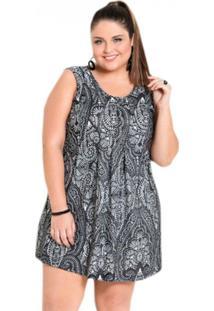 ba891ba20 R$ 100,54. Zattini Vestido Abstrato Com Pregas Plus Size Quintess -  Feminino-Estampado