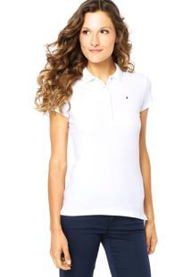 bc265b8a5e ... Camisa Polo Tommy Hilfiger Bordado Branca