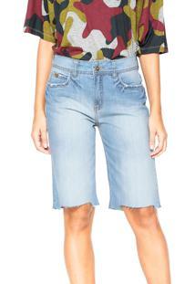 Bermuda Jeans Colcci Reta Daniela Azul