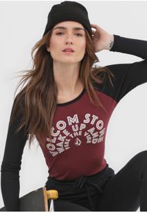 Camiseta Volcom Stone Vinho - Kanui