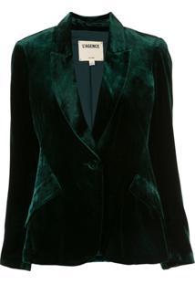 L'Agence Blazer Chamberlain De Veludo - Verde