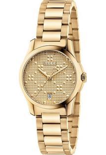 68e1ff6fb26 ... Relógio Gucci Feminino Aço Dourado - Ya126553
