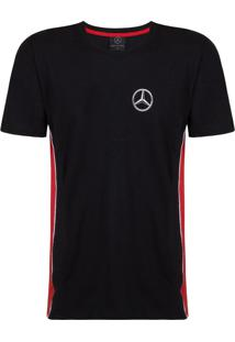 Camiseta Mercedes Challenge Side Stripes Mercedes Benz Collection Preto