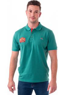 Camisa Polo Vista Mare Algarve Slim Fit Verde