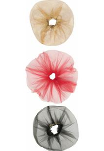Atu Body Couture Kit De 3 Scrunchies Com Tule - Dourado