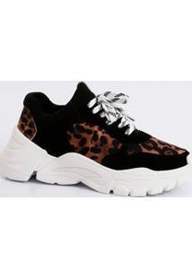 Tênis Feminino Chunky Sneaker Animal Print