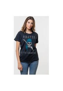 Camiseta Jay Jay Básica Pirates Of Caribbean Preta