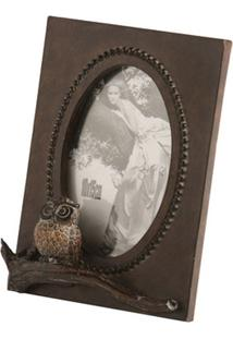 Porta-Retrato De Resina Decorativo Owl