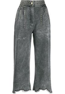 Just Cavalli Calça Jeans Cropped - Cinza