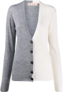 Marni Two-Tone Cardigan - Cinza