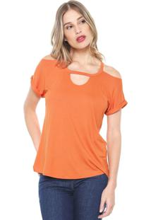 Camiseta Mob Off Shoulders Laranja - Kanui