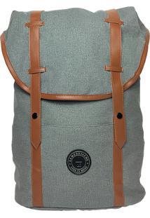 Mochila La Moustache Backpack Grey & Brown