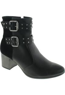 Bota Mississipi Ankle Boot Murgon Feminina - Feminino-Preto