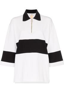 Eytys Orlando Zip Collar Polo Shirt - Branco