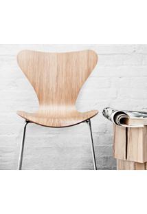 Cadeira Series 7 Jacobsen - Aço Pintado Madeira Marfim Opção De Madeira