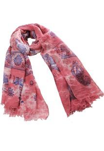 Lenço Real Arte Estampa Elefantes Tie-Dye