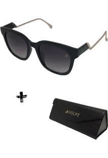 Oculos De Sol Feminino Volpz Com Case Dobrável
