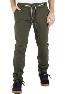 Calça Alfa Sarja Pro Model Silas Ribeiro Verde Militar - Masculino