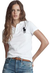 Camisa Polo Polo Ralph Lauren Slim Branca