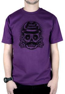 Camiseta Bleed American Mexican Roxo