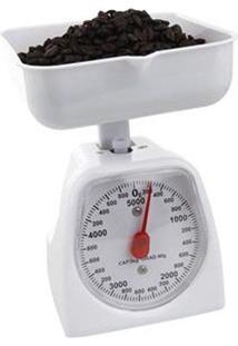 Balança Mecânica De Cozinha Gimp Retrô Até 5Kg Branco