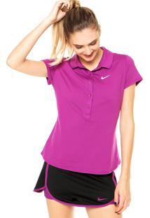 Camisa Polo Nike Advantage Roxa