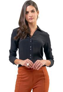 Camisa Mx Fashion Viscose Alissa Preta