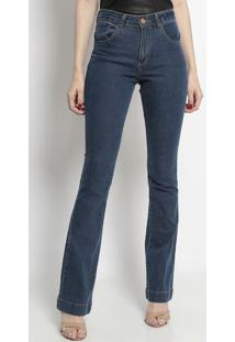 Jeans Reto Com Pesponto- Azultvz
