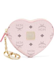 Mcm Porta-Moedas Com Logo - Rosa