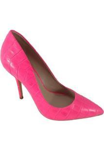Scarpin Salto Alto Sapatoweb Couro Feminino - Feminino-Rosa
