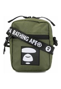 Aape By *A Bathing Ape® Bolsa Carteiro Com Patch Bordado - Verde
