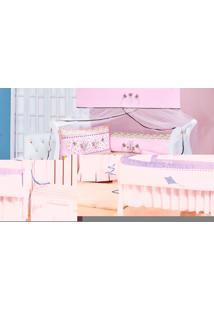 Kit Enxoval Para Berço Sonho Carrinho Com 09 Peças Azul E Branco