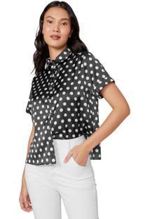 Camisa Manga Curta Acetinada
