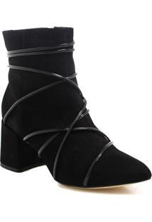Bota Ankle Boot Zariff Shoes Tiras