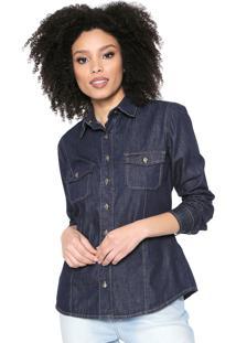 Camisa Jeans Osmoze Lisa Azul