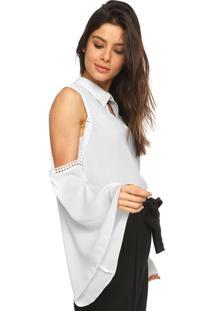 Camisa Lança Perfume Off Shoulder Off-White