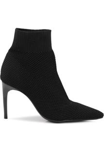 Ankle Boot Mr Cat Bico Fino Feminino - Feminino-Preto