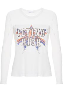 Camiseta Feminina Tule Silk Ana - Off White