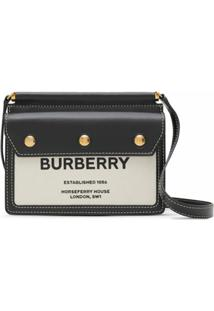 Burberry Bolsa Horseferry Title Mini - Preto