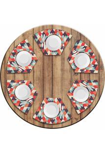 Jogo Americano Love Decor Para Mesa Redonda Wevans Geometric Kit Com 6 Pçs - Kanui