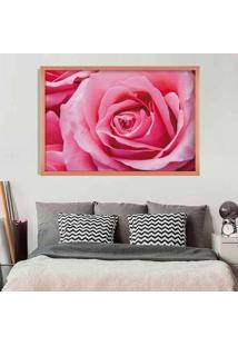 Quadro Love Decor Com Moldura Rosa Rose Metalizado Médio