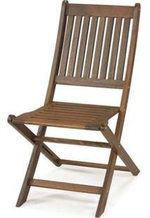 Cadeira Dobravel Sem Braco Cor Stain Nogueira - 16752 Sun House
