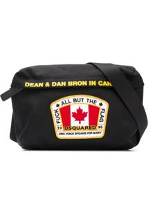 Dsquared2 Clutch 'Born In Canada' - Preto