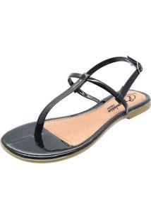 Sandália Romântica Calçados Tirinhas Preto - Kanui