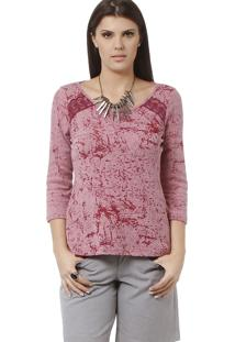 Blusa Energia Fashion Devorê Rosa