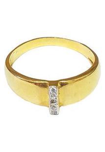 Anel Armazem Rr Bijoux Cristais Dourado